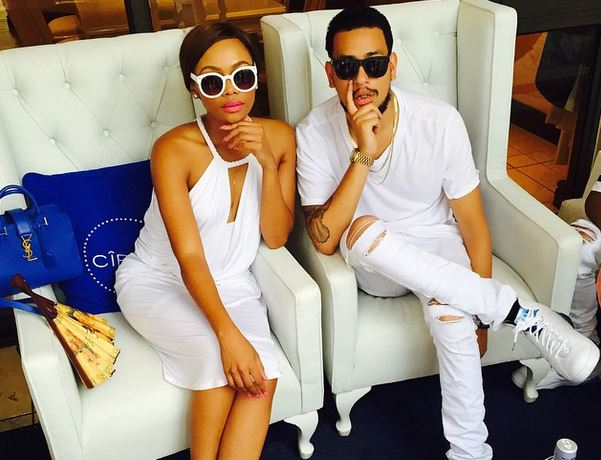 Bonang Matheba Dj Zinhle and AKA break up.