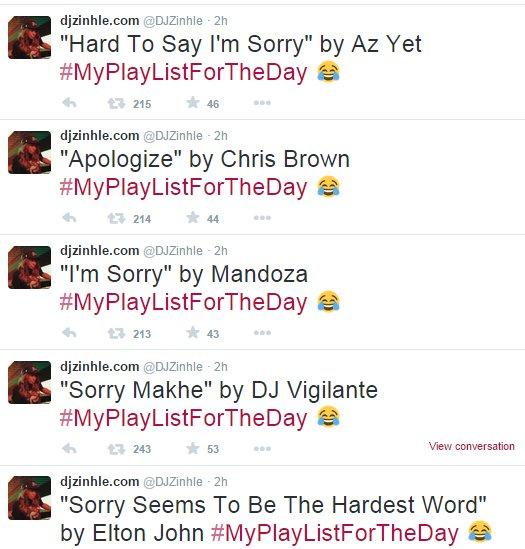 zinhle-sorry-tweets