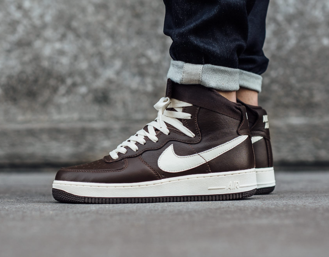 nike air force 1 high chocolate brown releases this. Black Bedroom Furniture Sets. Home Design Ideas