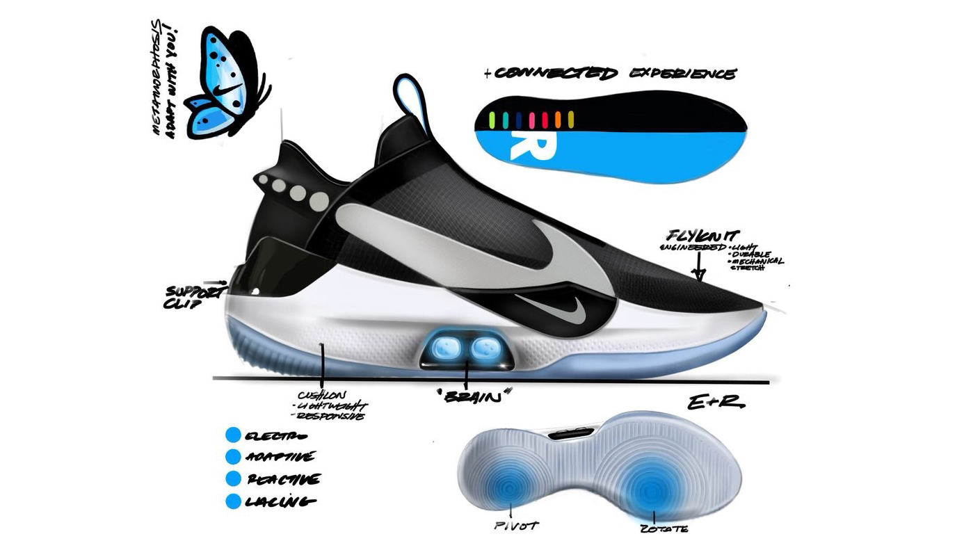 Here is Nike's Self-lacing + App-controlled sneaker ...